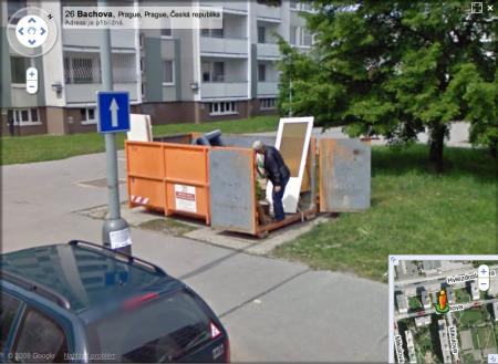 Google Street View Na nákupu
