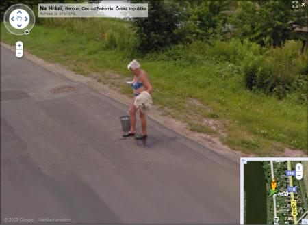 Google Street View Vypráno