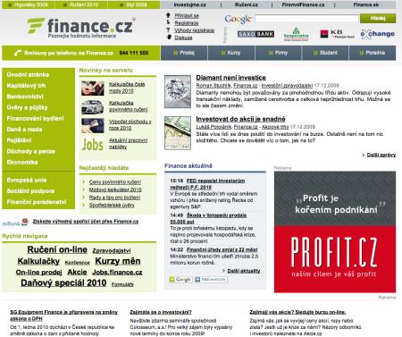 Finance.cz 12/2009