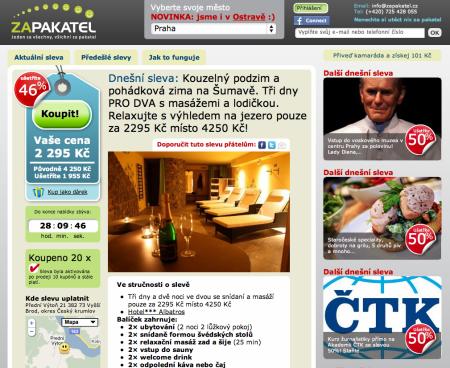 Zapakatel.cz groupon klon