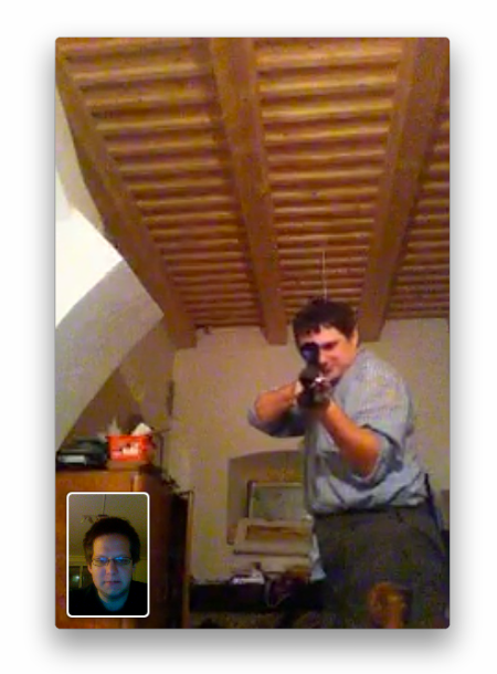 facetime - screenshot gun