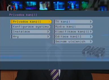 Sencor SDV-8801T DVB menu