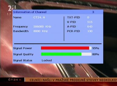 Sigmatek DVBX-120 signal