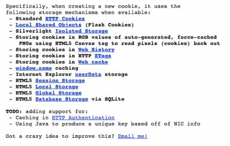 Evercookie