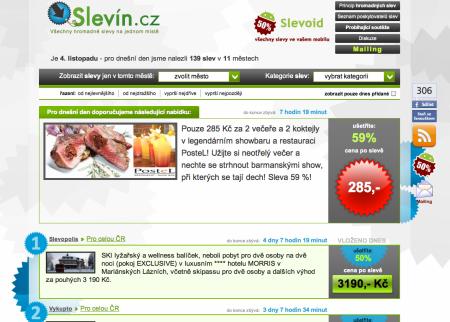 Slevin.cz - další agregátor slev