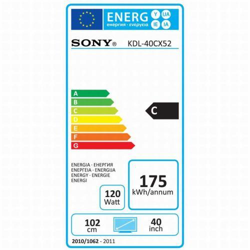 Sony KDL-40CX520 štítek