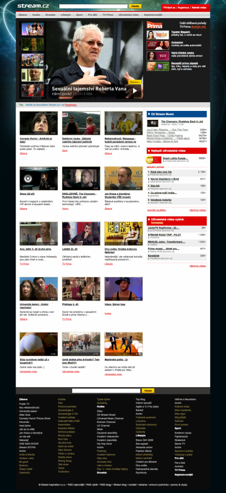 Stream.cz redesign říjen 2009