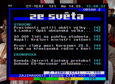 Strong 5126 teletext