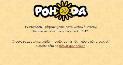 TV Pohoda - web, leden 2012