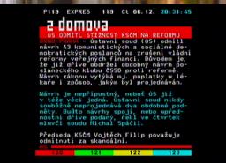 Sencor SDB 3007T teletext II