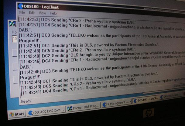 Textove zpravy DAB