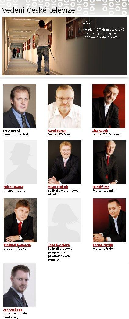 Vedení ČT - k 1.1.2012