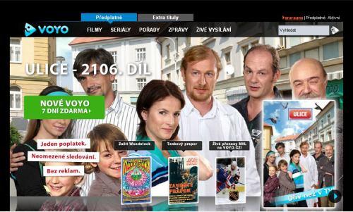 Voyo.cz - homepage