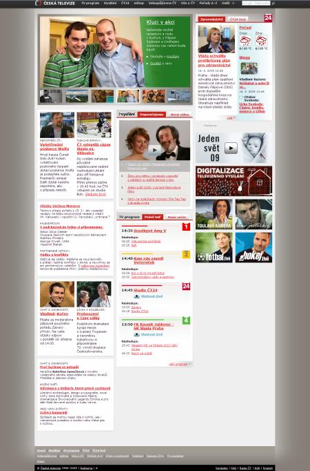 webdesign - Česká televize