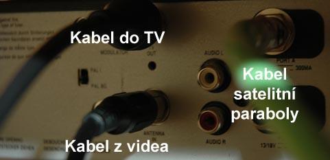 Zapojení satelitu