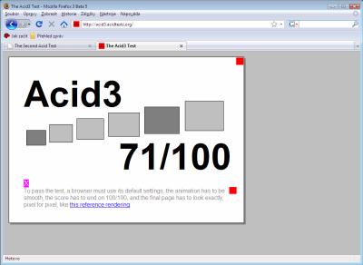 Firefox 3 - ACID3