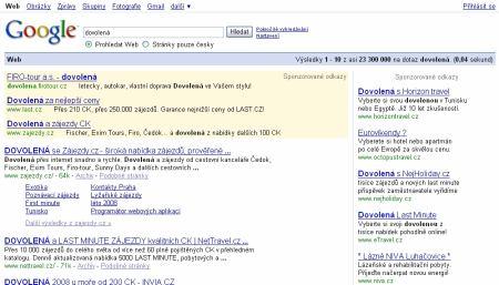 adwords google dovolená