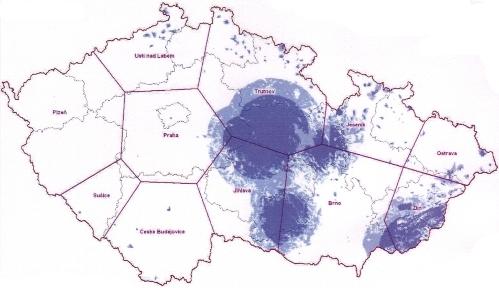 ČT 2 analog - pokrytí ČR k 1.10.2010
