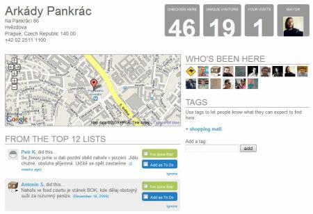 arkády Pankrác na Foursquare