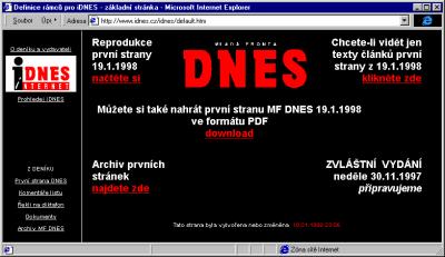 Zakladni stranka iDnes.cz