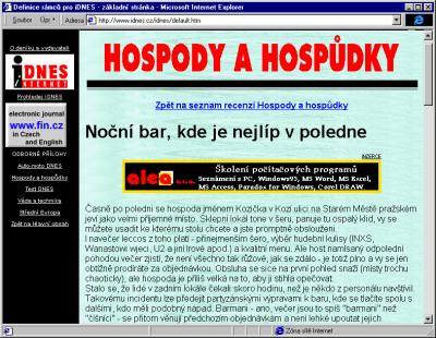 Recenze hospod a hospudek na iDnes.cz