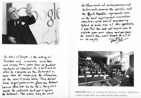 Google Story pozdrav Cerf