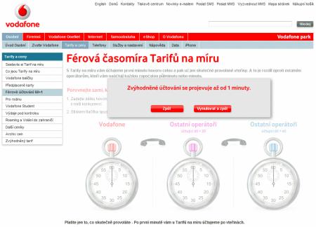 Vodafone ferová tarifikace