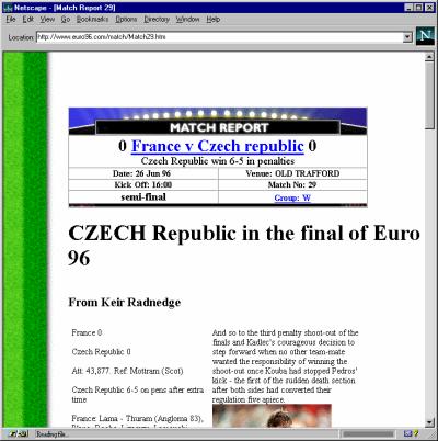 EURO96 CR vs Francie