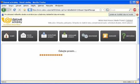 DS instalace plug-inu Firefox