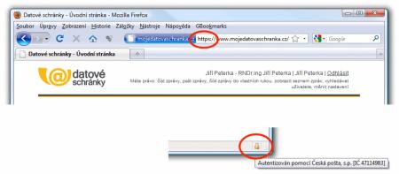 signalizace Firefoxu
