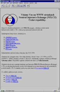Web page NIX.CZ