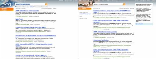 Porovnání Bing.com v CZ a US verzi