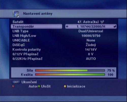 Optibox 7750 instalace