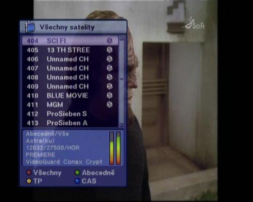 Optibox 7750 kanály