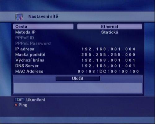 Optibox 7750 síť