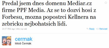 Čermák předává Mediář.cz