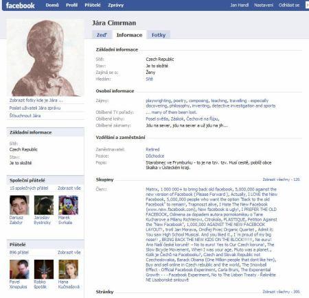 Cimrman Facebook