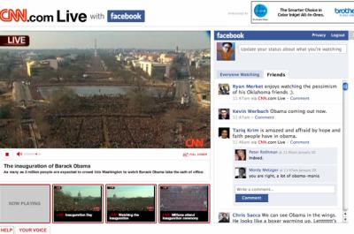 CNN a Facebook Obamova inaugurace
