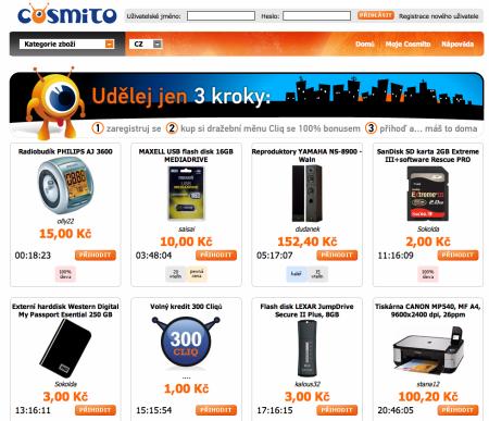 Cosmito.cz - homepage