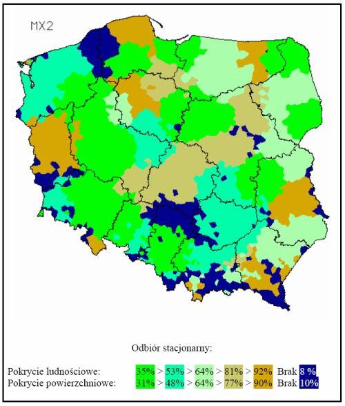Polsko MUX 2 mapka