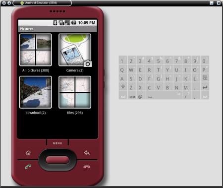 Android emulátor obrázky