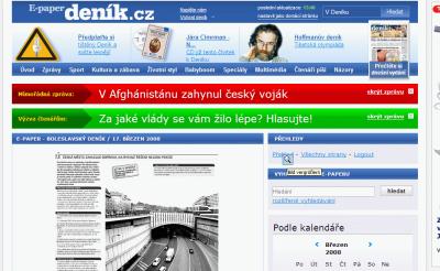 E-paper - Deník - Infografika