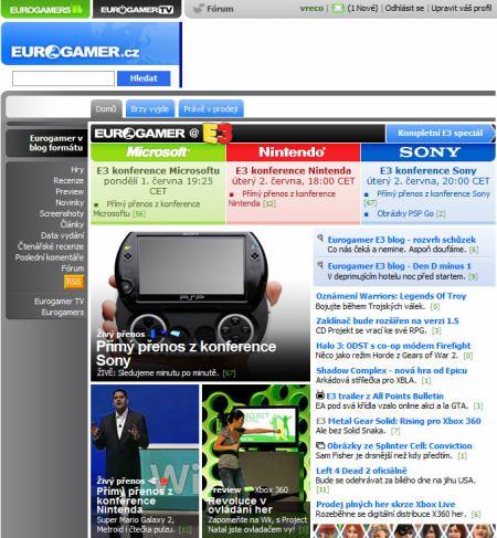 Eurogamer homepage