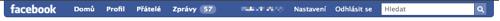Facebook lišta