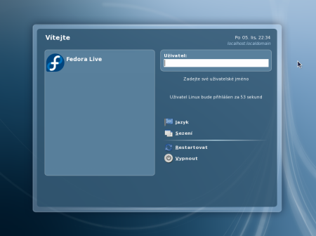 Fedora 8 login