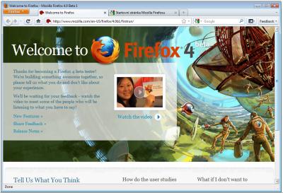 Firefox 4.0 Beta 1: nové GUI