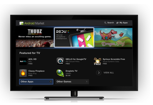 Google TV - Android Market
