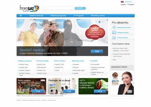 freeSAT - webové stránky