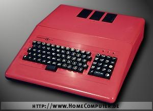 Počítač Didaktik Alfa v červeném provedení