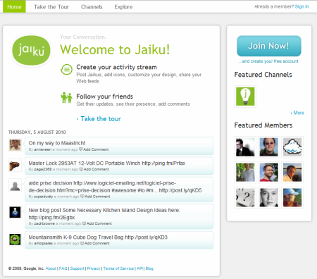 google-jaiku-2010-08